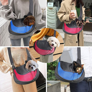 Travel Safe Sling Bag Carrier for Small Dogs & Cats (up to 10 lbs) - Abound Pet Supplies
