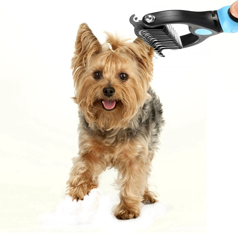 Double Sided Grooming Brush for Dogs & Cats - Abound Pet Supplies
