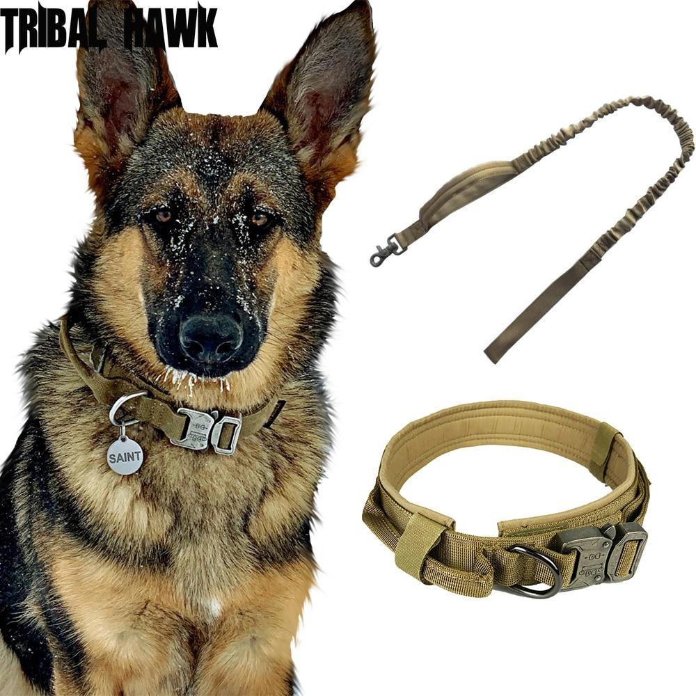 ELITE Tactical Dog Collar with Control Handle - Abound Pet Supplies