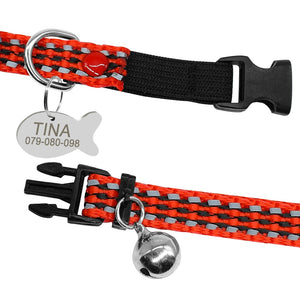 Reflective Cat Collar and Tag Set with Bell - Abound Pet Supplies
