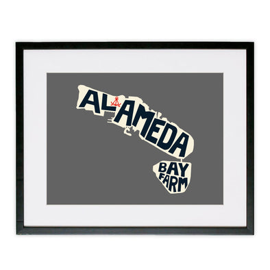 ALAMEDA/BAY FARM ANCHOR POSTER GREY