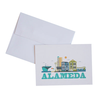 ALAMEDA CITYSCAPE SINGLE NOTECARD