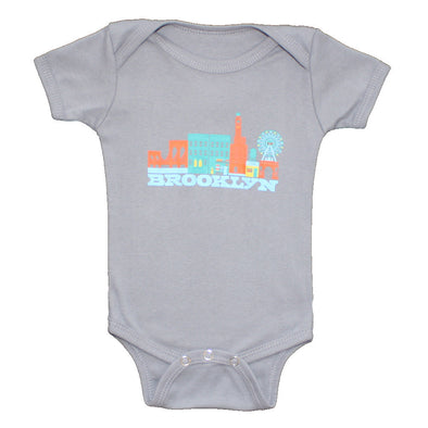 BROOKLYN CITYSCAPE SHORT SLEEVE ONEPIECE (ETSY)