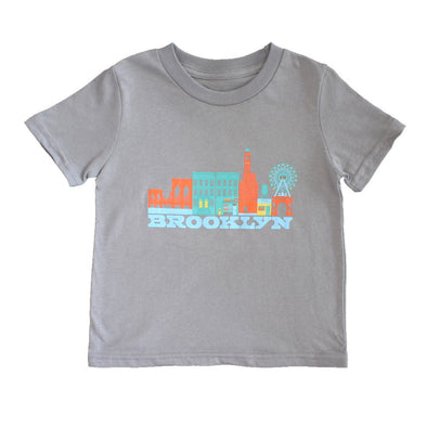 BROOKLYN CITYSCAPE KIDS SHORT SLEEVE TEE
