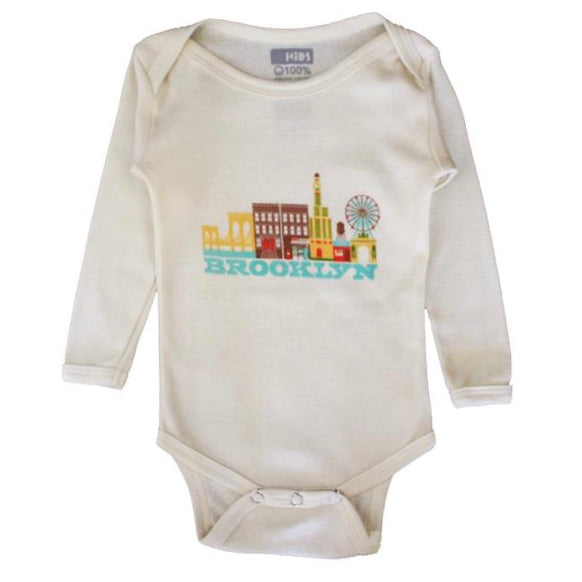 BROOKLYN CITYSCAPE KIDS LONG SLEEVE ONEPIECE