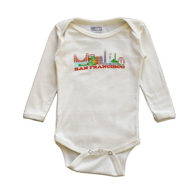 SAN FRANCISCO CITYSCAPE DTG (ON DEMAND) KIDS LONG SLEEVE ONEPIECE