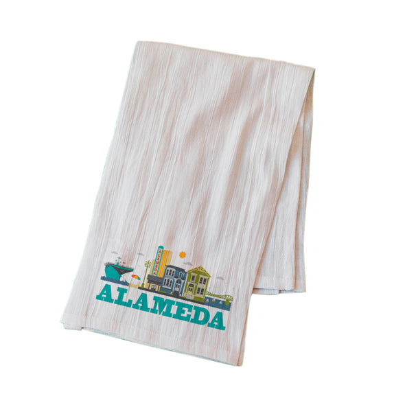 ALAMEDA CITYSCAPE FLOUR SACK KITCHEN TOWEL