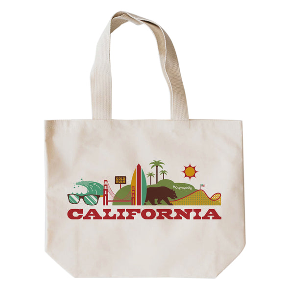 CALIFORNIA CITYSCAPE TOTE BAG