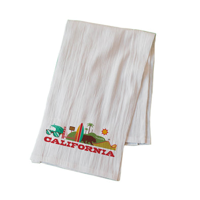 CALIFORNIA CITYSCAPE FLOUR SACK KITCHEN TOWEL