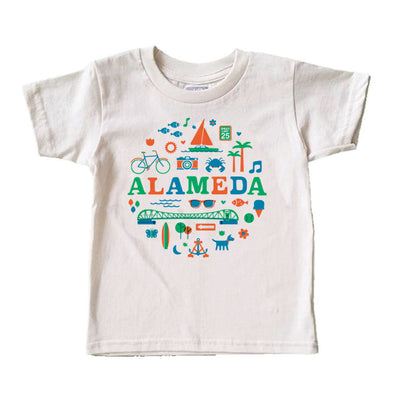 (CHAD GERAN) RETRO ALAMEDA KIDS COTTON SHORT SLEEVE TEE