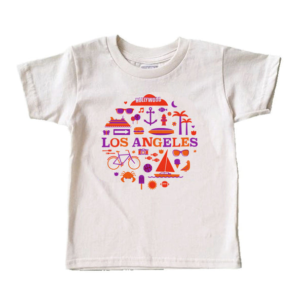 (CHAD GERAN) RETRO LOS ANGELES KIDS COTTON SHORT SLEEVE TEE