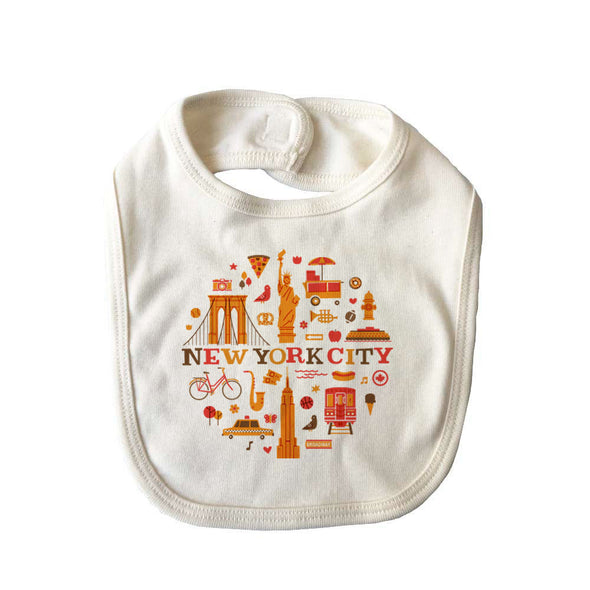 (CHAD GERAN) RETRO NEW YORK BABY BIB