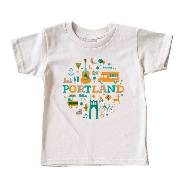 (CHAD GERAN) RETRO PORTLAND KIDS COTTON SHORT SLEEVE TEE