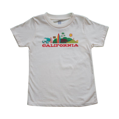 CALIFORNIA CITYSCAPE KIDS SHORT SLEEVE TEE
