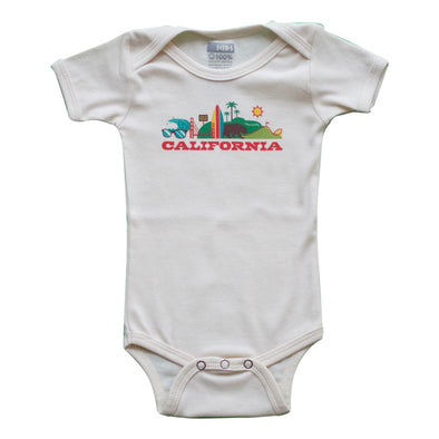 CALIFORNIA CITYSCAPE KIDS SHORT SLEEVE ONEPIECE