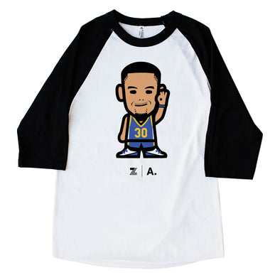 WEMOJI ADULT RAGLAN LONG SLEEVE TEE - CURRY #30