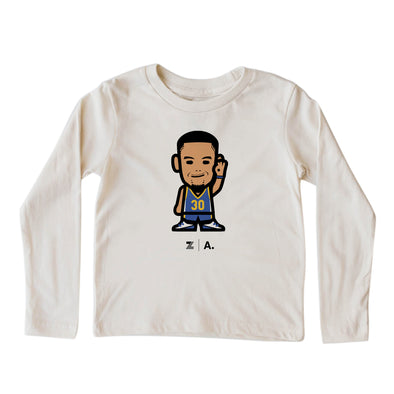 WEMOJI KIDS LONG SLEEVE TEE - CURRY #30