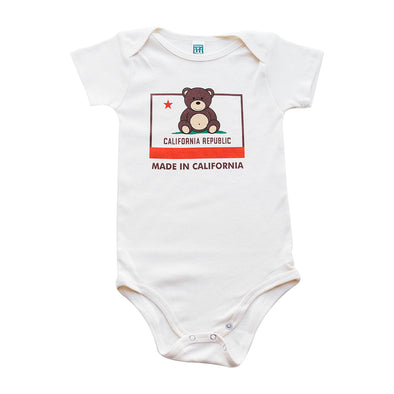 MADE IN CALI BEAR KIDS SHORT SLEEVE ONEPIECE