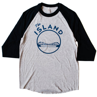 THE ISLAND ADULT RAGLAN SLEEVE T SHIRT