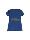 WKND EVERYDAY WOMENS RETRO V-NECK TEE