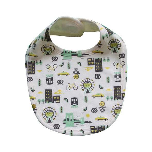 BROOKLYN ALL-OVER PRINT BABY BIB