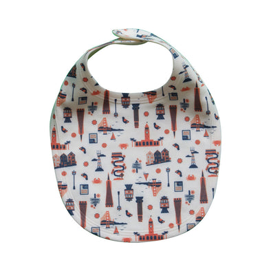 SAN FRANCISCO ALL-OVER PRINT BABY BIB