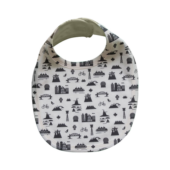 VANCOUVER ALL-OVER PRINT BABY BIB