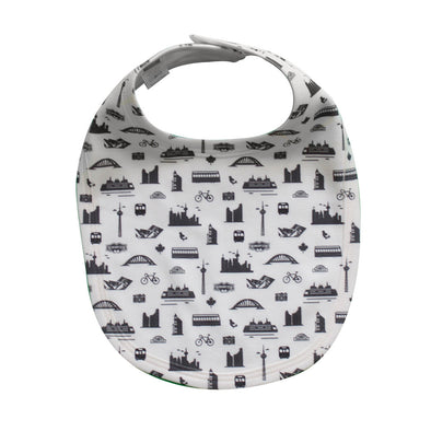 TORONTO ALL-OVER PRINT BABY BIB