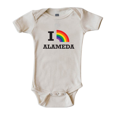 CUSTOMIZE IT! I RAINBOW DESIGN - SHORT SLEEVE ONESIE STACKED DESIGN