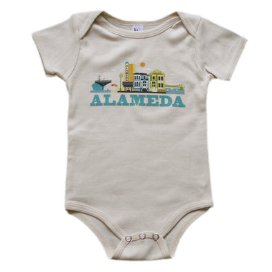 ALAMEDA CITYSCAPE KIDS SHORT SLEEVE ONEPIECE