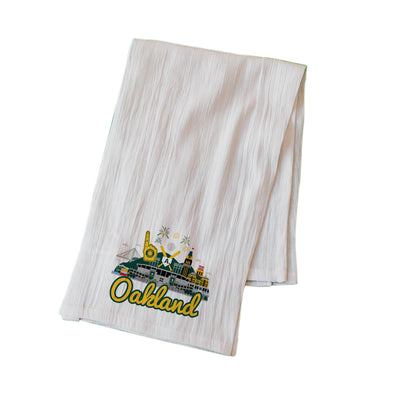 OAKLAND A'S CITYSCAPE FLOUR SACK KITCHEN TOWEL