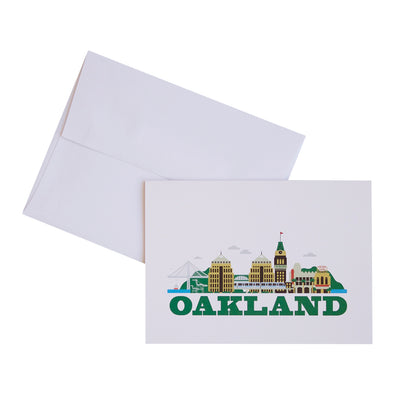 OAKLAND CITYSCAPE 10 PACK NOTECARDS