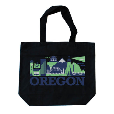 OREGON CITYSCAPE TOTE BAG