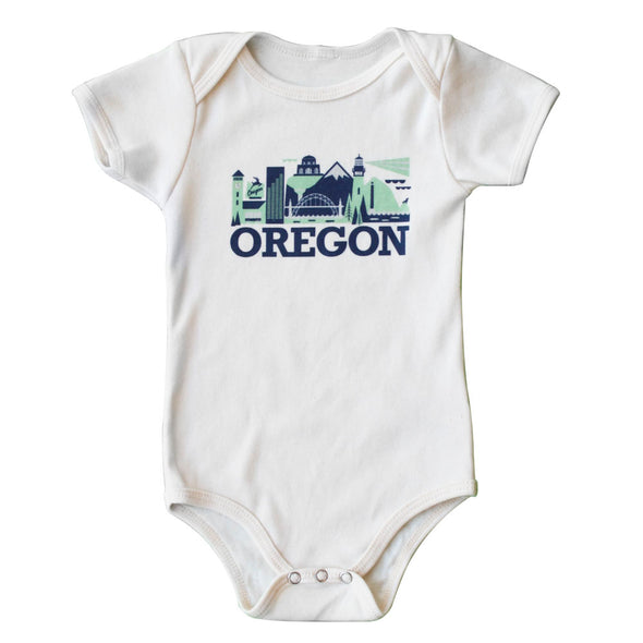 OREGON CITYSCAPE KIDS SHORT SLEEVE ONEPIECE