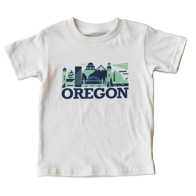 OREGON CITYSCAPE KIDS SHORT SLEEVE TEE