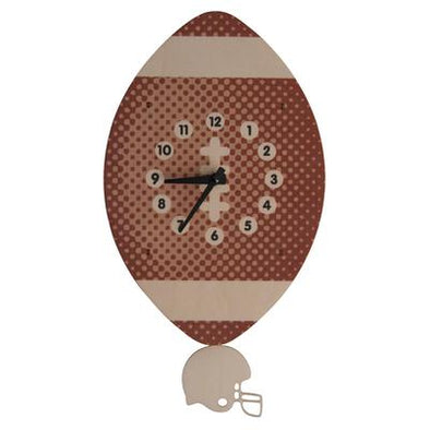 MODERN MOOSE FOOTBALL PENDULUM CLOCK