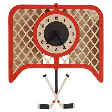 MODERN MOOSE HOCKEY PENDULUM CLOCK