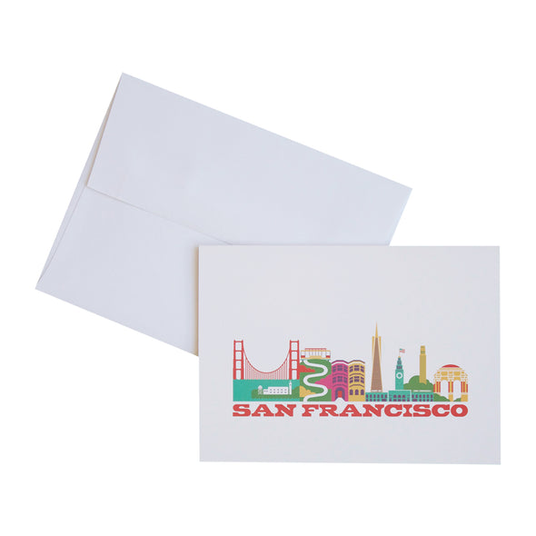 SAN FRANCISCO CITYSCAPE 10 PACK NOTECARDS