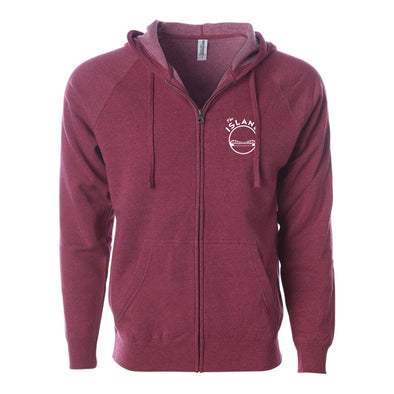 THE ISLAND ADULT ZIP RAGLAN HOODIE