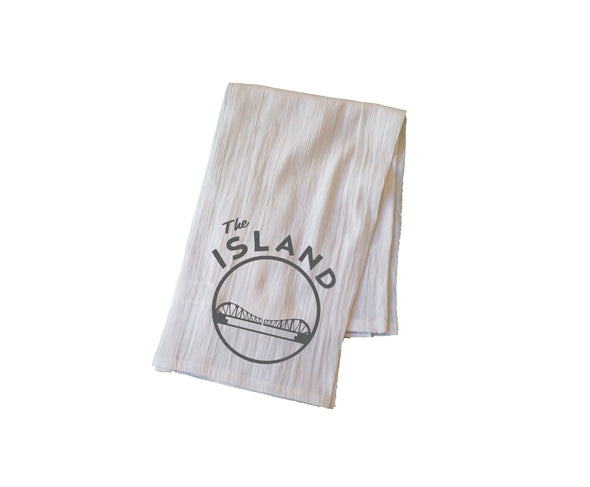 THE ISLAND FLOUR SACK KITCHEN TOWEL