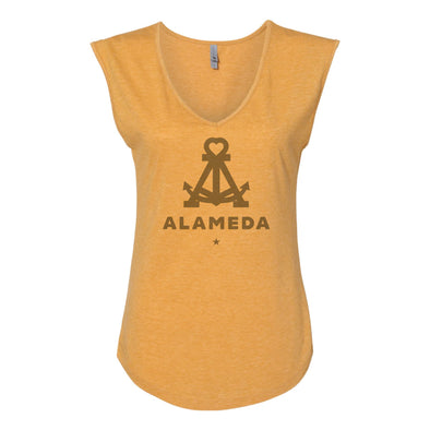 ALAMEDA ANCHOR TONAL WOMENS SLEEVELESS V-NECK