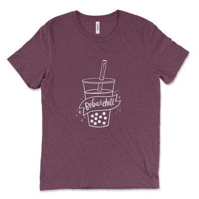 FLAT TOOTHPICK BOBA AND CHILL UNISEX TEE