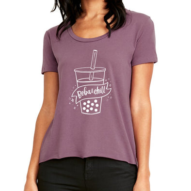 FLAT TOOTHPICK BOBA AND CHILL WOMENS TEE