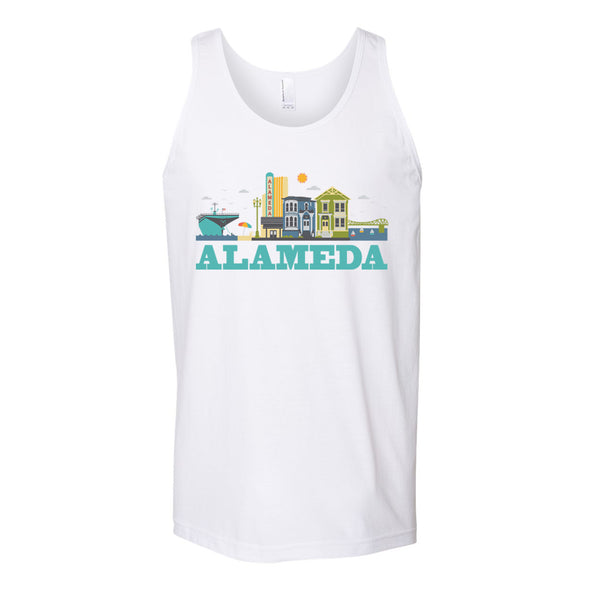 CITYSCAPE ALAMEDA MENS DTG TANK TOP