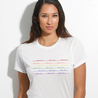 ALAMEDA RAINBOW WAVE WOMENS TEE