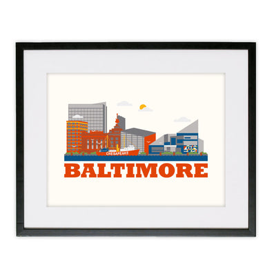 Framed Baltimore Poster