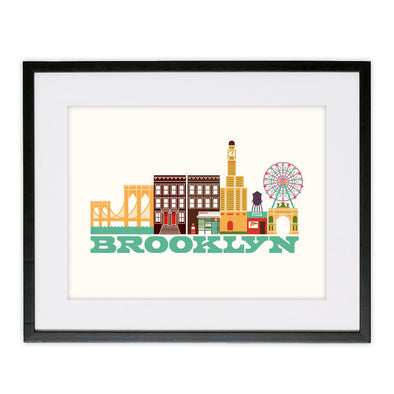 Framed Brooklyn Poster