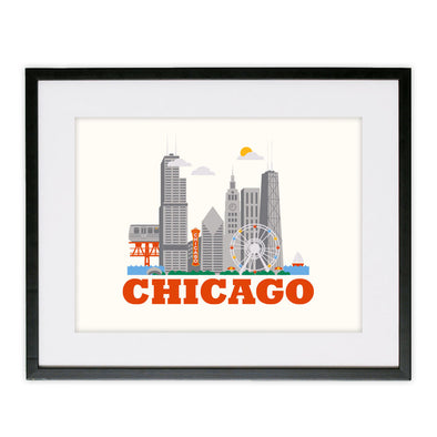 Framed Chicago Poster