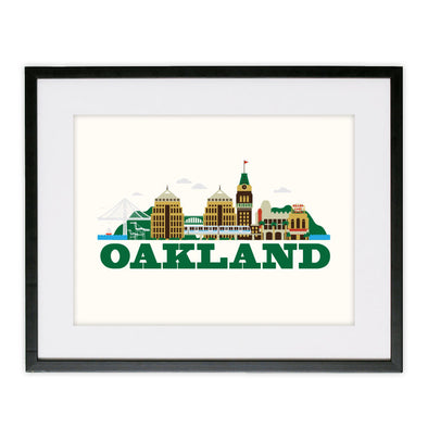 CITYSCAPE OAKLAND POSTER