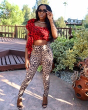 Load image into Gallery viewer, Pamela| Leopard Suede Pants